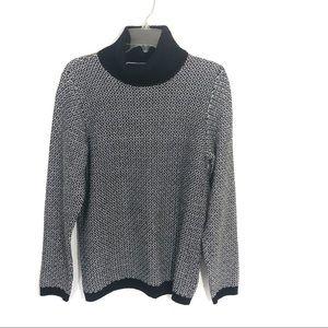 Karen Scott turtle neck chunky knit tunic pullover